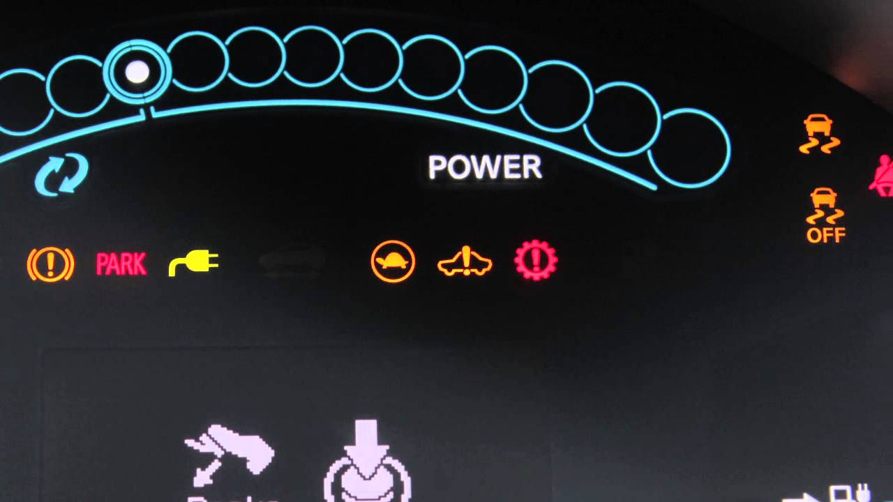 2012 Nissan Leaf Warning And Indicator Lights Youtube