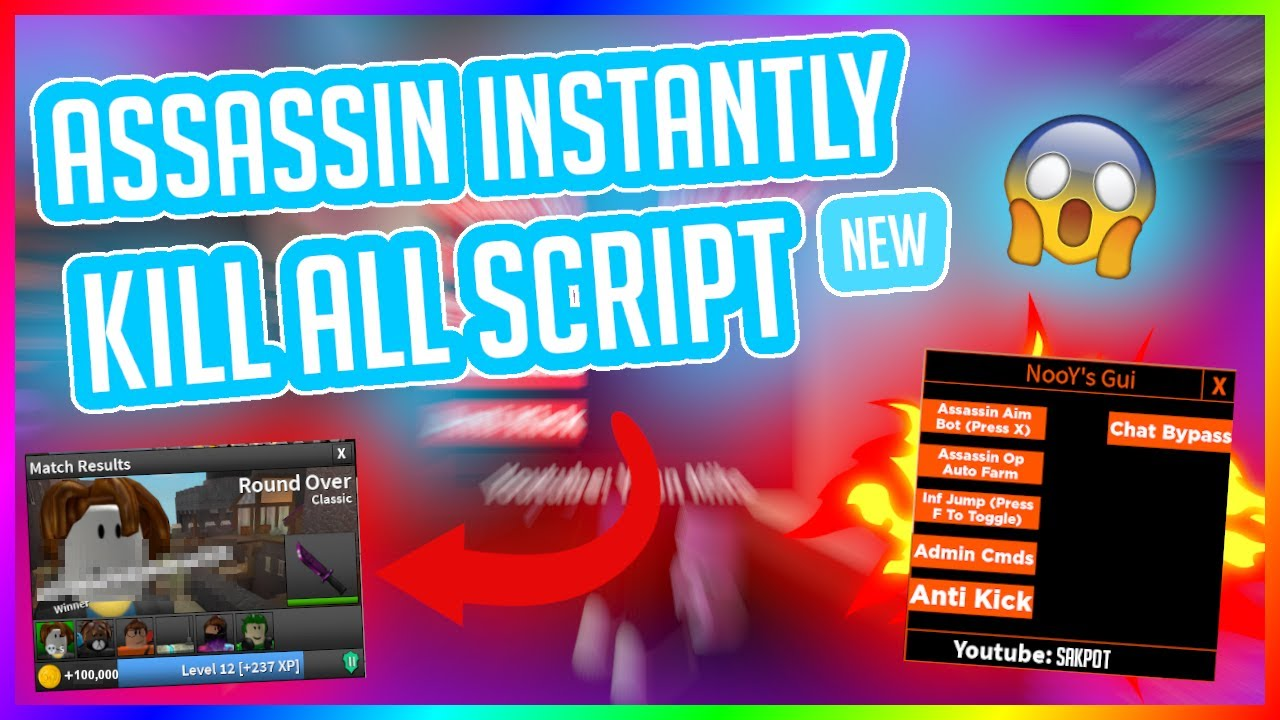 Assassin Instant Kill All Roblox Script 2020 Afk Kill Lobby Hack Unpatched Youtube