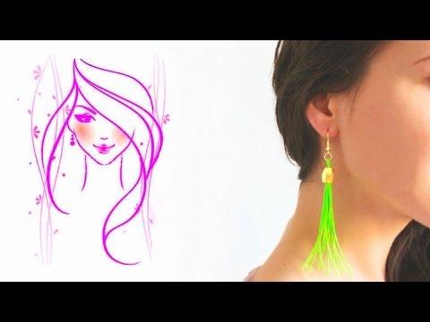 MORENA DIY: HOW TO MAKE EASY TASSEL EARRINGS