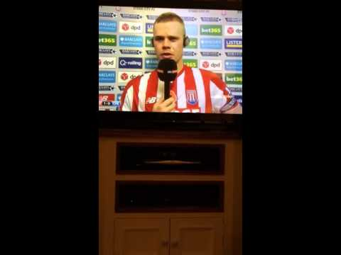 "Ryan Shawcross Post match interview Stoke Vs Chelsea 1-0 ""Hazard  in the top 3 players in the world"""