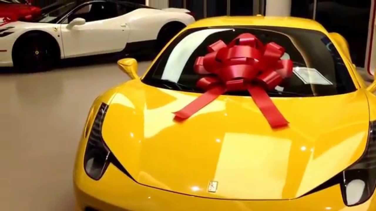 Ferrari 458 speciale christmas present youtube for Ferrari christmas