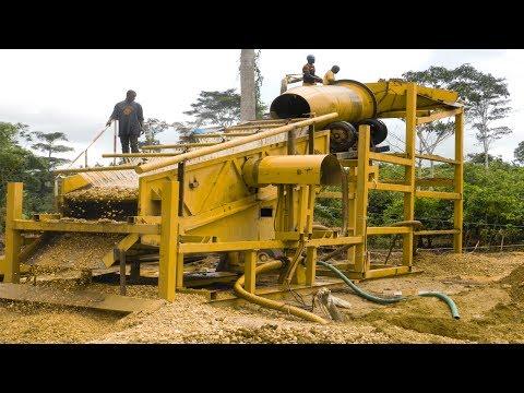 Ghana clay alluvial gold washing plant