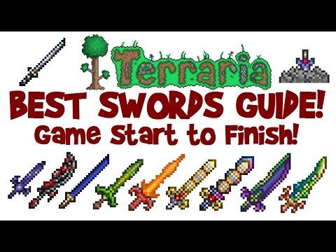 download BEST TERRARIA SWORDS GUIDE! How to start & get Night's Edge, True Excalibur up to Terra Blade!