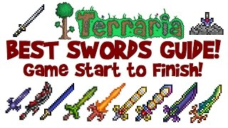 BEST TERRARIA SWORDS GUIDE! How to start & get Night's Edge, True Excalibur up to Terra Blade!