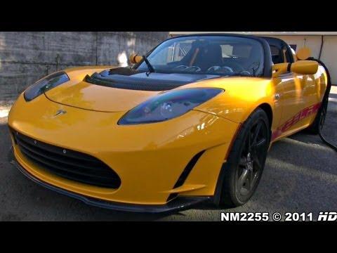 Tesla Roadster Sport 200km/h OnBoard on Track!
