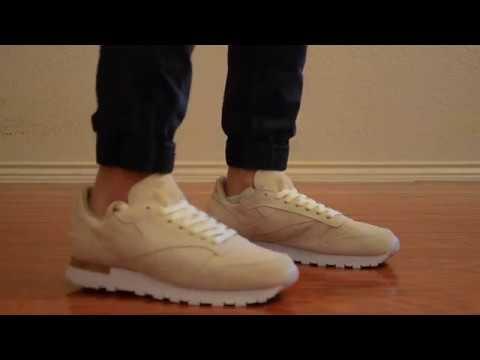d99cbe6733c3d3 Reebok Classic Leather LST Cream On Feet - YouTube