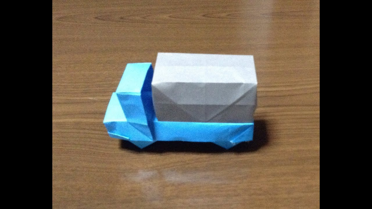 How To Make A Origami Truckcar Youtube