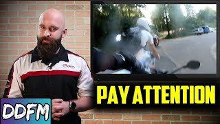 Motorcycle Group Crash Caused By Poor Attention / Motorcycle Riding Tips