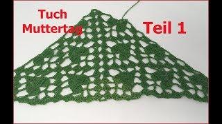 Tuch Muttertag EINFACH Häkeln /Teil 1/ mit 1 BOBBEL-COTTON von Woolly Hugs