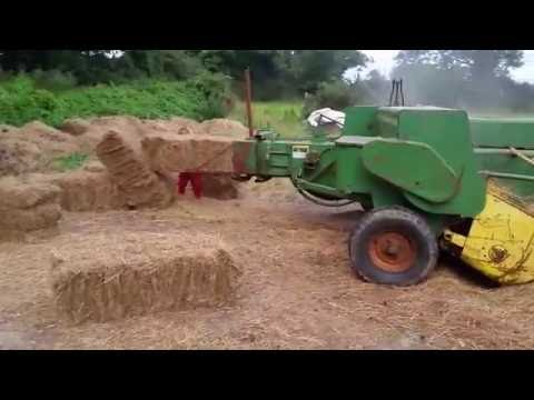 Baling Hay From Round Into Square For Horses @ Hughes Farm Galbally Ireland