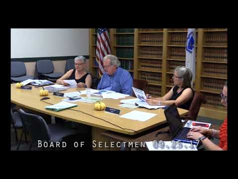 Board of Selectmen 09.25.17