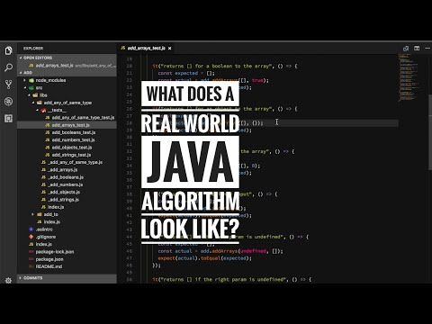 What does a real world Java algorithm look like?