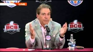 "Coach Nick Saban answers the question ""Why?"""
