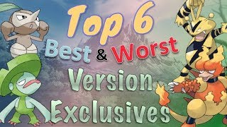 Top 6 Best and Worst Version Exclusives in Pokémon