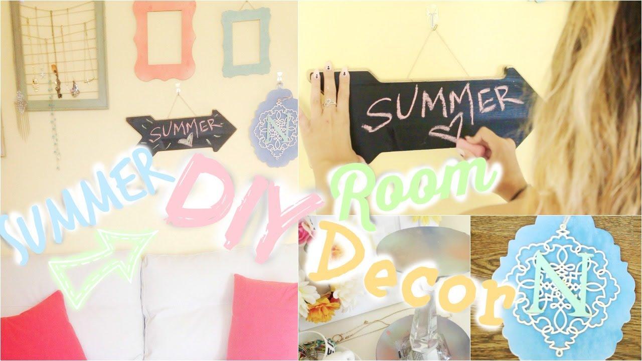 Diy easy summer room decor with niki youtube for Diy room decor zoella