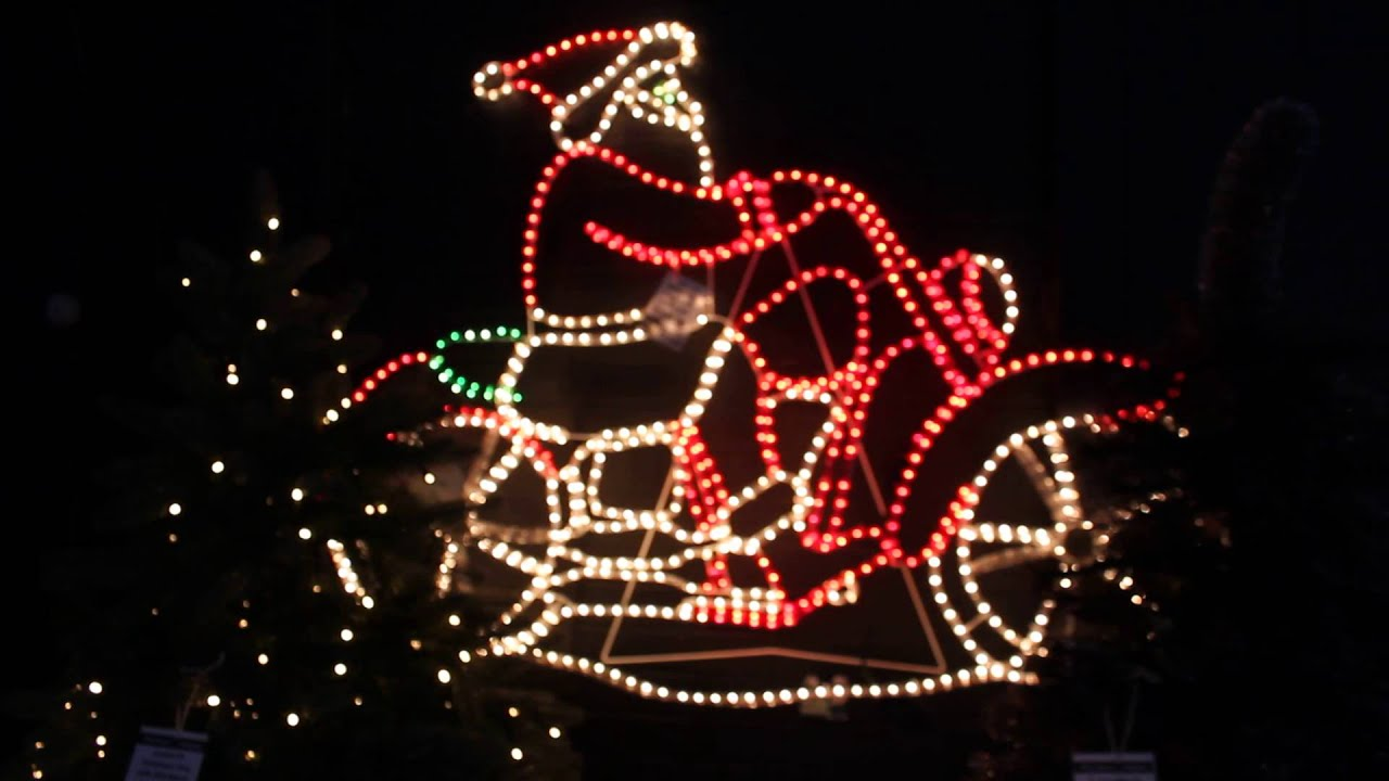Outdoor christmas rope lights uk exclusive idea led rope light santa on motorbike rope light silhouette youtube aloadofball Gallery
