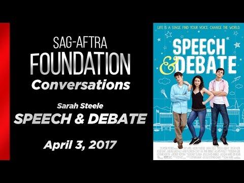 Conversations with Sarah Steele of SPEECH & DEBATE
