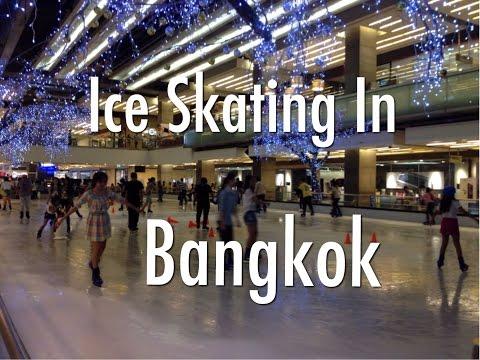 Ice Skating In Bangkok At Central World Shopping Plaza In Pratunam.