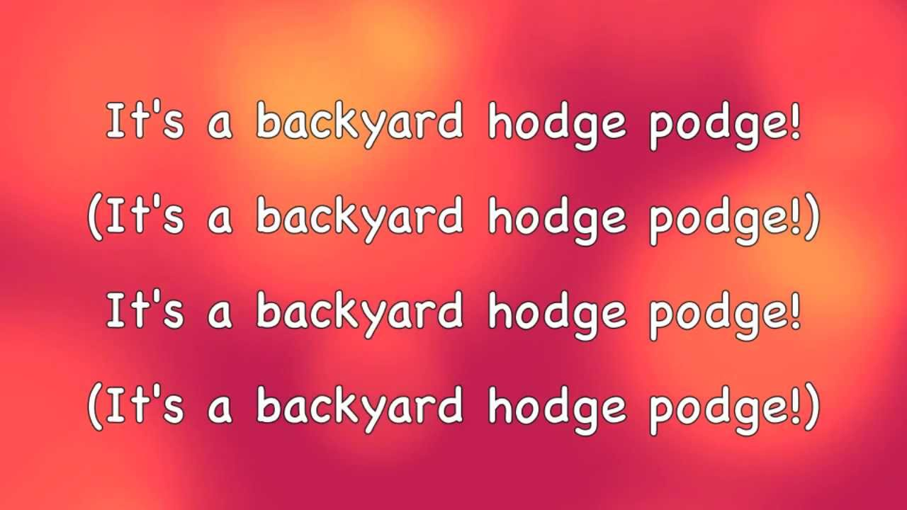 phineas and ferb backyard hodge podge lyrics hd hq youtube