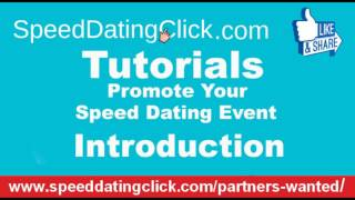 Promote Your Speed Dating Event intro video  1