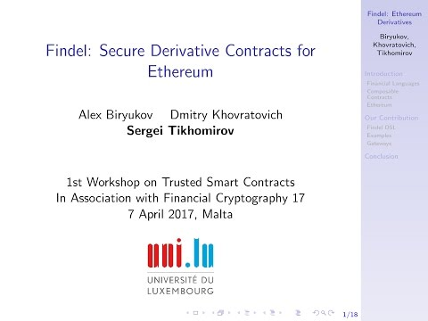 Findel: Secure Derivative Contracts for Ethereum