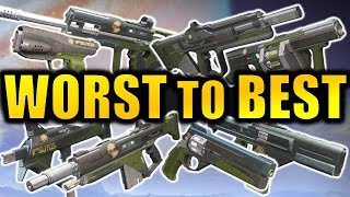 Destiny 2: WORST To BEST Iron Banner Weapons!