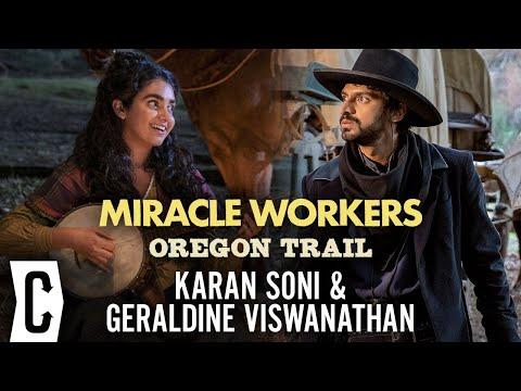 Miracle Workers Season 3 Oregon Trail Interview: Geraldine Viswanathan and Karan Soni