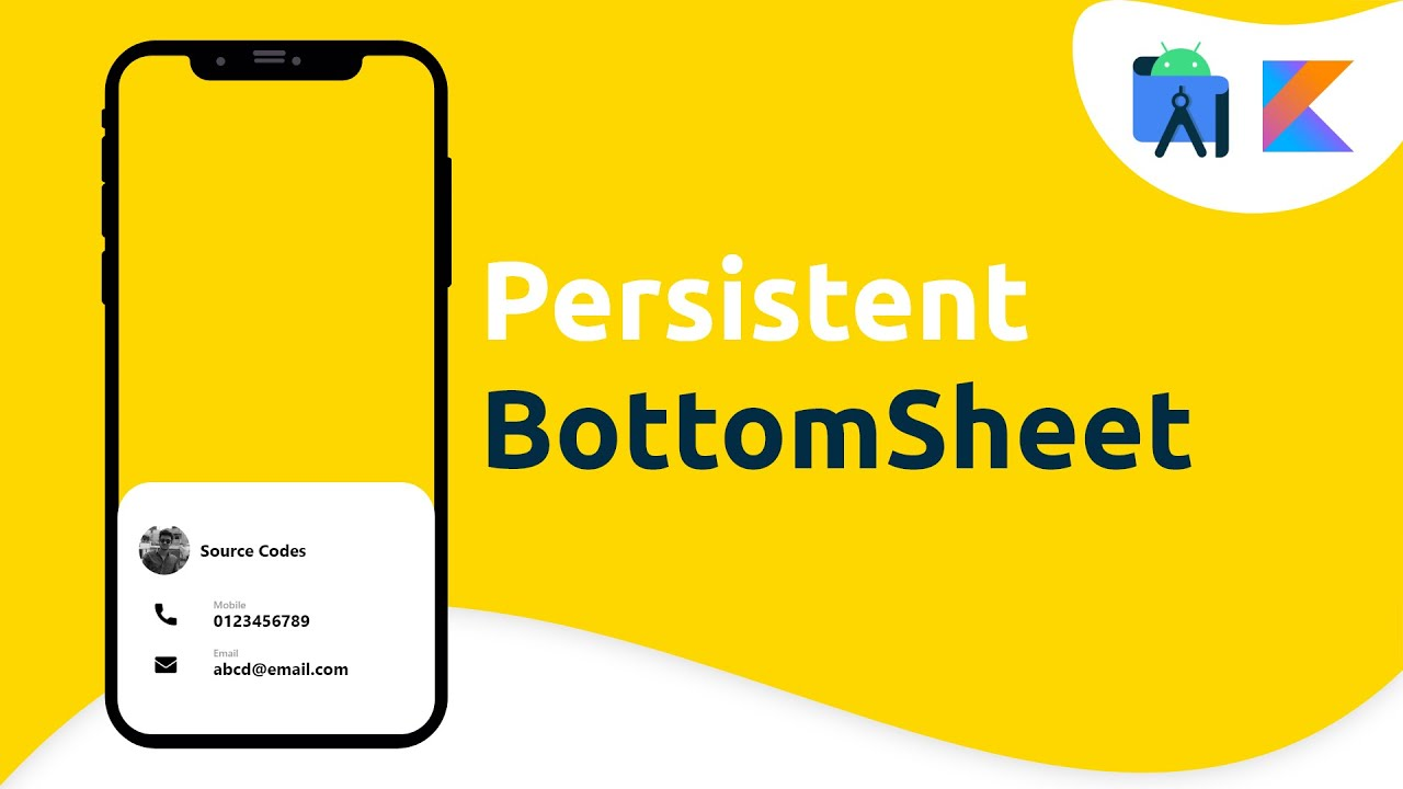 Persistent Bottom Sheet Dialog in Android Studio Tutorial (Kotlin)