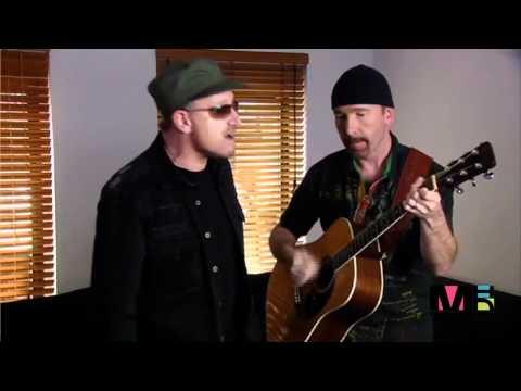 U2 Bono and The Edge sing Happy Birthday
