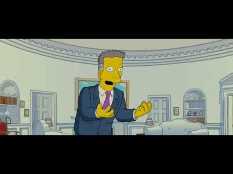 Simpsons Schwarzenegger President Decision Making Youtube