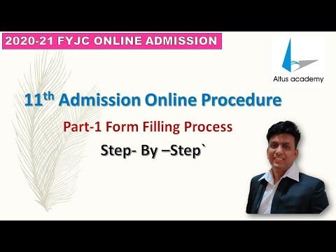 11th Online Admission Registration Part-1   Altus Academy