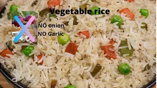 Vegitable rice without onion, garlic / Kartheeka masam special