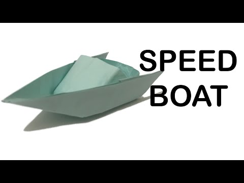 How to make a Paper Speed Boat Origami Tutorial
