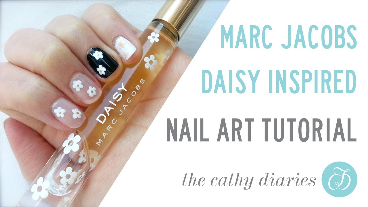 marc jacobs daisy inspired nail
