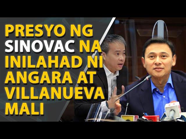 Datos ni Sen. Angara at Villanueva hinggil sa presyo ng Sinovac, mali - NTF