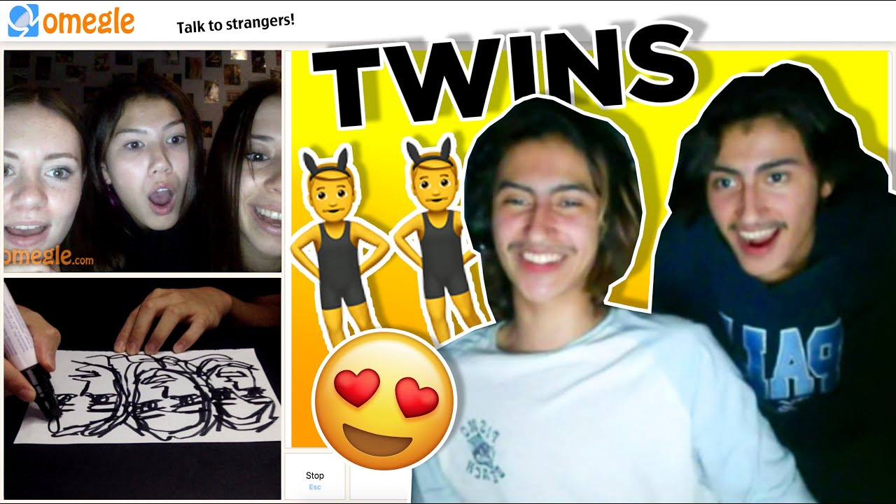 I MET TWINS on Omegle Drawing Reactions | rooneyojr
