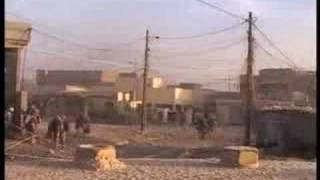 Camera on tank during fight in Baghdad