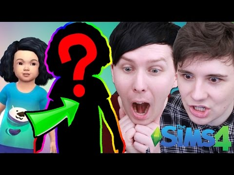 DAB BECOMES A CHILD! - Dan and Phil Play: Sims 4 #39