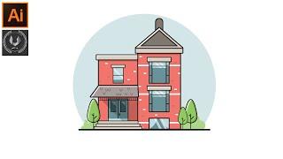 Güzel Manzara arka Plan Tasarımı Adobe Illustrator CC Öğretici -