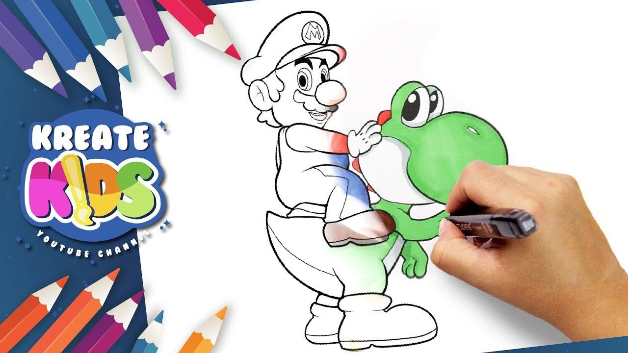 Super Mario Disegni Da Colorare Coloring Pages Youtube