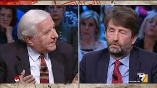 Il ministro dei Beni culturali Dario Franceschini dialoga con il giornalista Vittorio Emiliani