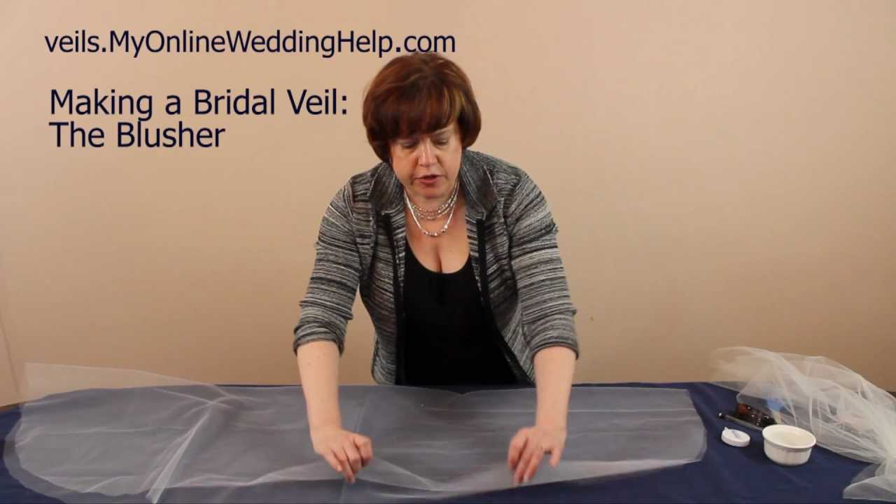 Creating The Blusher Step 2 In Making A Bridal Veil Series