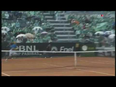 Rafael Nadal VS David Ferrer crazy point. in Rome Masters 2010