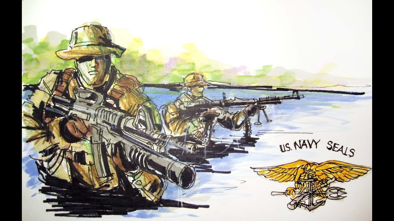 military series u s navy seals time lapse drawing youtube