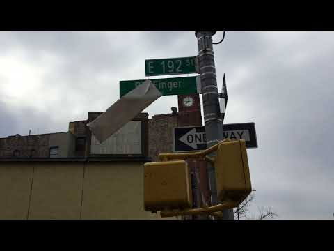 "Unveiling of ""Bill Finger Way"" street sign, Bronx, NYC, 12/8/17"