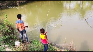 Best Fishing Video | Kids Fishing By Daily Village Life (Part-26)