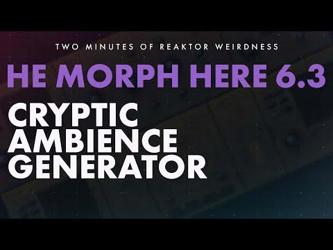 TMORW: HE MORPH HERE - Noise Synthscape, Generative Atmosphere Reaktor Ensemble