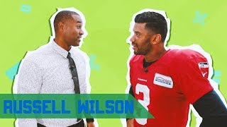 RUSSELL WILSON HAS ICY VEINS AND A SHINY GLOVE ON CABBIE PRESENTS