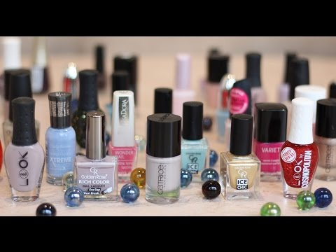 Коллекция ЛАКОВ ДЛЯ НОГТЕЙ. Golden Rose, Rimmel, OPI, SallyHansen, NailLook, Catrice