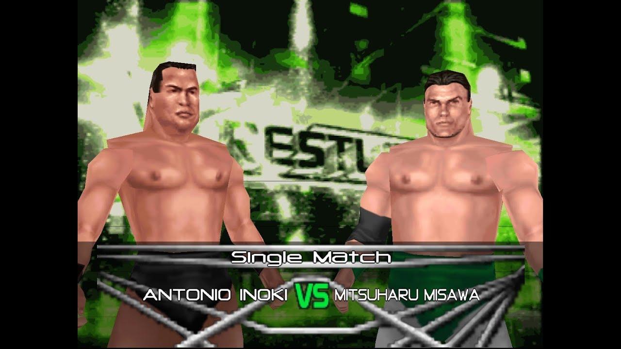 WWF No Mercy NJPW Rom Hack Sims - Antonio Inoki vs Mitsuharu Misawa